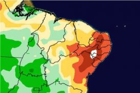 Chuva forte no Nordeste