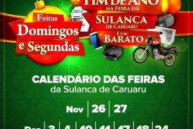 Horário de Final de ano para a Feira da Sulanca 2017