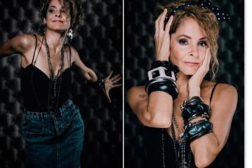 Cantora Blubell revisita as tendências da década de 80 em ensaio de moda inspirado em Madonna