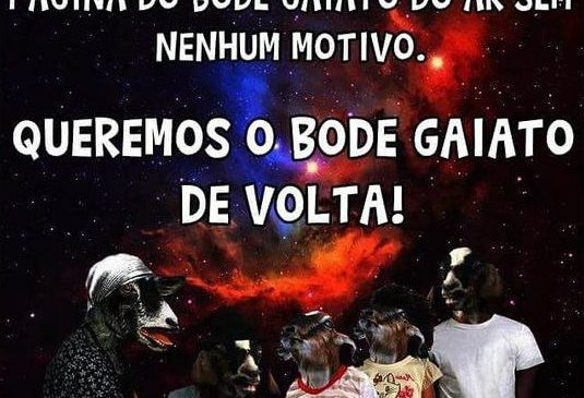 Página do Bode Gaiato no Facebook é retirada do ar sem motivos