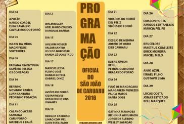 Programação São João de Caruaru 2016