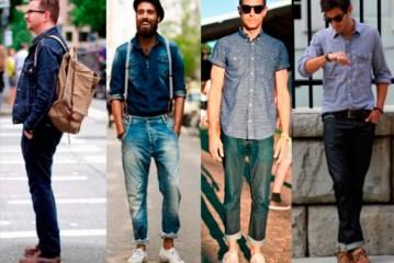 Tendência de moda jovem masculina 2016